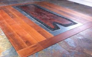podlaha z břidlice, podlaha Merbau