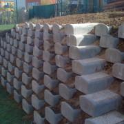 opěrná zeď Úvaly