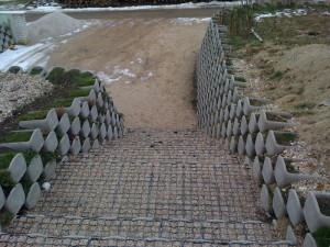 svahová zeď okres Nymburk
