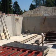 betonáž stěn bílé vany